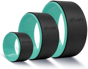 ATIVAFIT Sports Yoga Wheel Set, 3 Pack Yoga Roller Rad For Back Pain And Improving Your Yoga Poses, Perfect For Stretching, Improving Flexibility And Backbends (12 Inch, 10 Inch, 5 Inch)