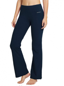 BALEAF Women's 30 32 34 Bootcut Yoga Pants Bootleg Flared Leggings Boot-cut Long Workout Pants Inner Pocket