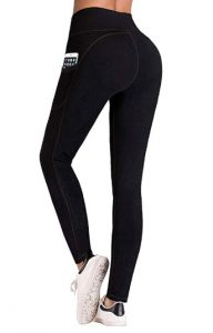 Four-Way Stretch Yoga Leggings with Pockets