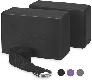 Gaiam Essential Yoga Blocks And Yoga Strap Set