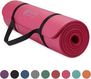 Gaiam Essentials Thick Yoga Mat