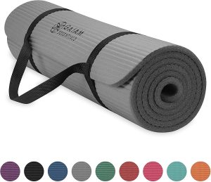 Gaiam Essentials Thick Yoga Mat Fitness And Exercise