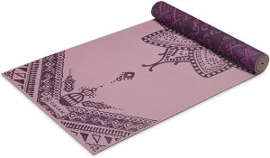 Gaiam Yoga Mat Premium Print Reversible Extra Thick Exercise And Fitness Mat