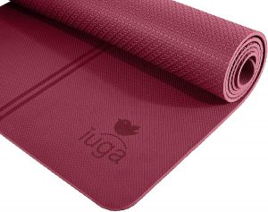 IUGA Eco Friendly Yoga Mat With Alignment Lines