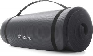 Incline Fit Extra Thick Exercise Mat With Carrying Strap