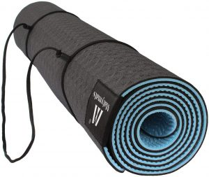Matymats Non-slip Tpe Yoga Mat With Carry Strap