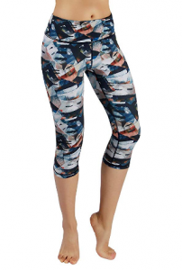 Ododos High Waist Out Pocket Printed Yoga Pants Tummy Control Workout Running 4 Way Stretch Yoga Leggings