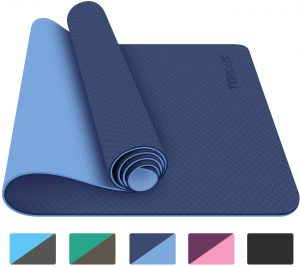 Toplus Yoga Mat - Classic 1 4-inch Pro Yoga Mat Eco Friendly Non-slip Fitness Exercise Mat With Carrying Strap
