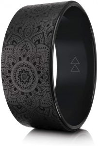 YOGA Design Lab The Yoga Wheel Eco Printed, Extra Strength, Padded, Dharma Exercise Wheel Designed In Bali Enhance Your Postures And Stretch Deeper