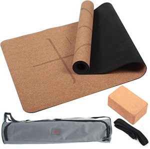 4Pcs Eco-friendly Cork Yoga Mat Set