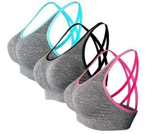 Akamc Women's Removable Padded Sports Bra