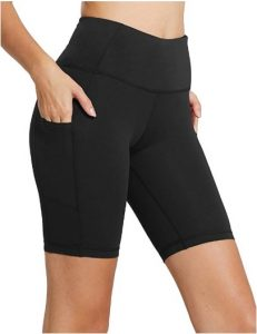 Baleaf Women's High Waist Workout Yoga Running Compression Shorts
