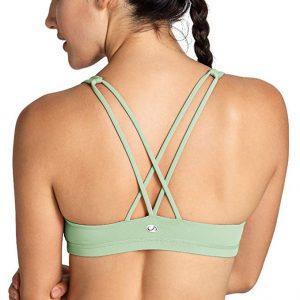 Crz Yoga Women's Low Impact Wirefree Padded Yoga Sports Bra