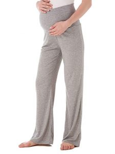Ecavus Women's Maternity Wide And Straight Versatile Comfy Palazzo Lounge Pants