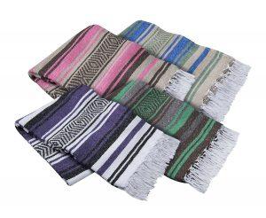El Molcajete Brand Traditional Mexican Blanket Serape For Yoga