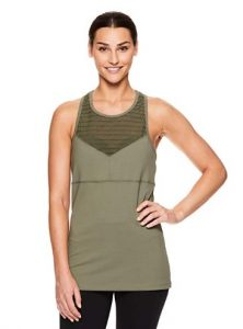 Gaiam Women Strappy Racerback Yoga Tank Top