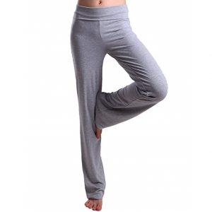 Hde Women's Colour Block Foldover Waist Yoga Pants Flare Leg Workout Leggings