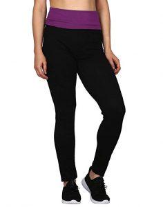 Hde Women's Maternity Yoga Pants Pregnancy Stretch Fold-Over Lounge Leggings