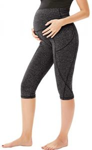 Macie Women's Maternity Yoga Pants Comfortable Lounge Pregnancy Capri pants