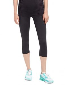 Motherhood Maternity Performance Active Secret Fit Belly Cropped Leggings