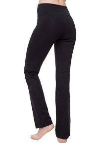 Nirlon Straight Leg Yoga Pants High Waist Leggings For Women Regular & Plus Size