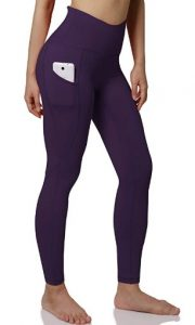 ODODOS Out Pocket High Waist Yoga Pants, Tummy Control, Pocket Workout Yoga Pant