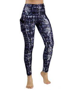 Ododos High Waist Pocket Printed Yoga Pants Tummy Control