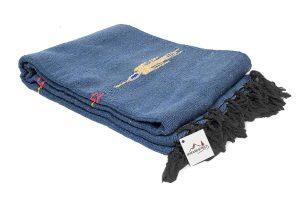 Open Road Goods State Blue Thunder Bird Heavyweight Yoga Blanket