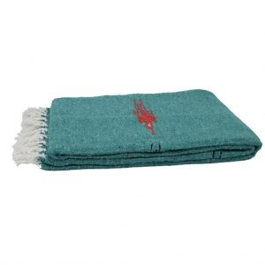 Open Road Goods Turquoise ThunderBird Heavyweight Yoga Blanket