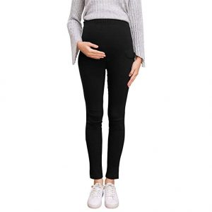 Pregnant Women Work Pants Stretchy Maternity Skinny Ankle Trousers Slim For Women