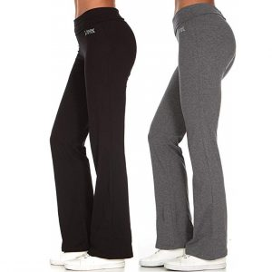Unique Styles Asfoor Set Of 2 Yoga Pants In Bootcut And Straight Leg Stretchy Pants
