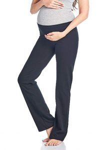 Women's Maternity Fold Over Comfortable Lounge Pants