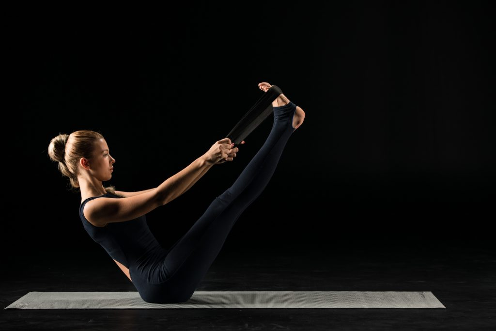 Practicing Yoga with straps