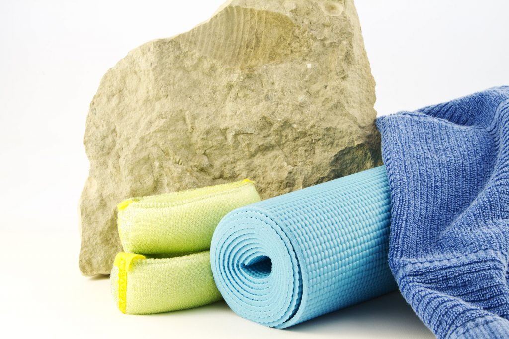 Yoga equipment with yoga towel