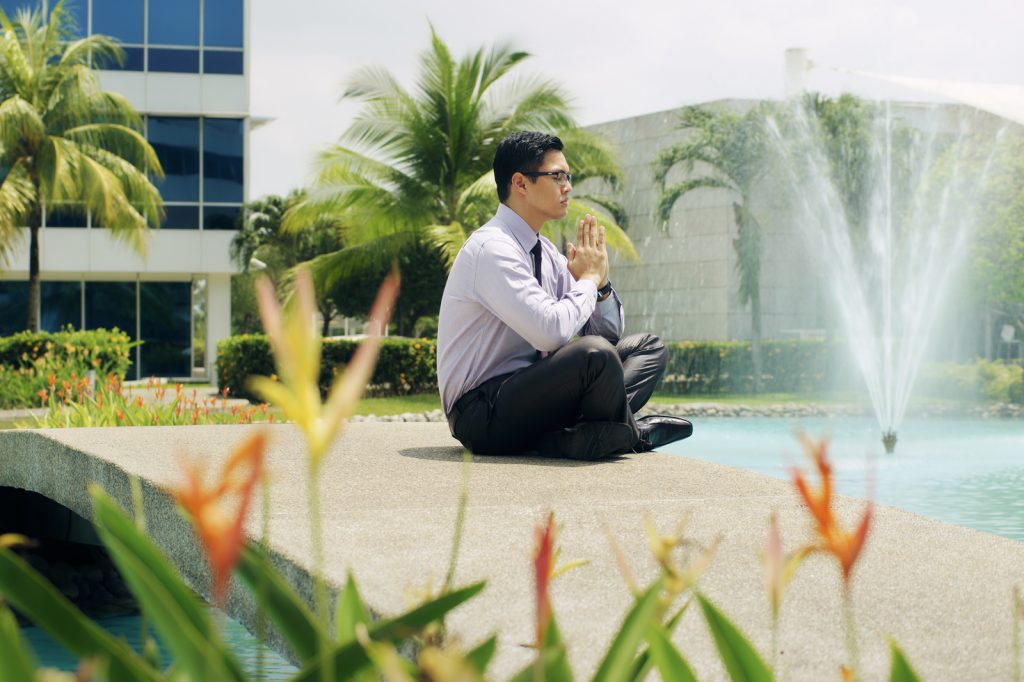 Meditation during lunch break