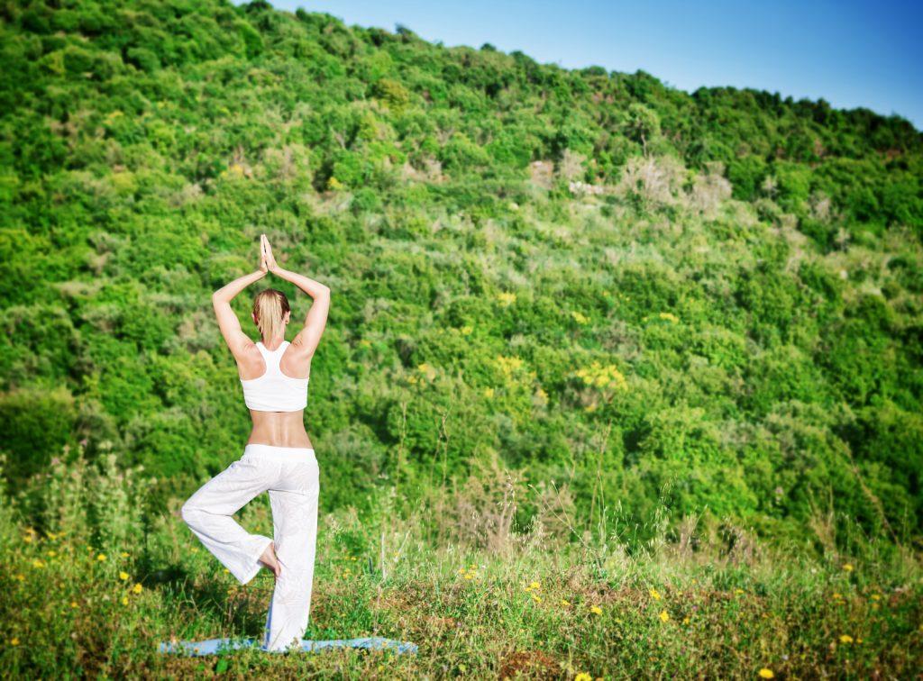 Yoga outside the gentle way